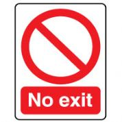 Prohibition safety sign - No Exit 075